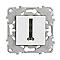 Mécanisme prise de téléphone SCHNEIDER ELECTRIC blanc