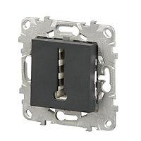 Mécanisme prise de téléphone SCHNEIDER ELECTRIC anthracite