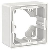 Cadre en sallie 1 poste Schneider Electric Unica Blanc