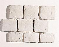 Pavage ancien lisse blanc 52,5 x 42,5 cm, ép.2 cm