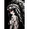 Toile sur châssis Femme Indienne 70 x 100 cm