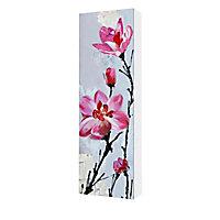 Huile sur toile peint à la main Fleur 40 x 120 cm
