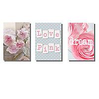 Lot de 3 affiches Pink 10 x 15 cm
