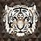 Toile sur châssis tête de tigre à strass 75 x 75 cm