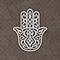 Toile sur châssis main de fatma strass 55 x 55 cm