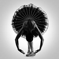 Toile sur châssis danseuse à strass 75 x 75 cm