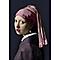 Toile imprimée pailletée Jeune fille à la perle 70 x 100 cm