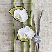 Toile imprimée Zen Fleurs 30 x 30 cm
