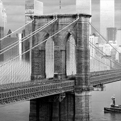 Image encadrée Pont N-Y 38 x 38 cm