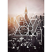 Toile Imprimée New York Design 55 x 75 cm