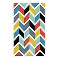 Affiche Chevrons multicolores 60 x 80 cm