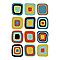 Affiche Carrés multicolores 40 x 50 cm