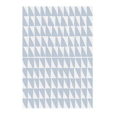 Affiche Triangles Bleu 40 x 50 cm