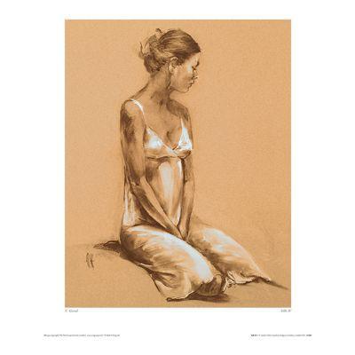 Affiche Femme & Soie 40 x 50 cm