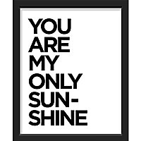 "Image encadrée ""You are my only sun-shine"" 24 x 30 cm"