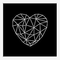 Image encadrée heart 30 x 30 cm