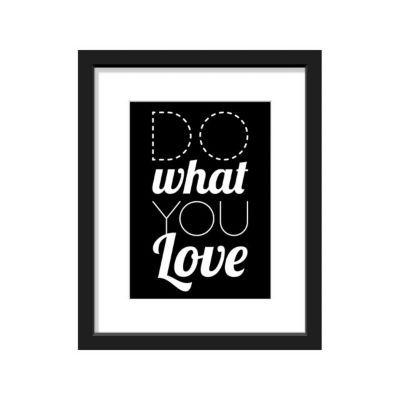 Image encadrée Do What You Love 24 x 30 cm
