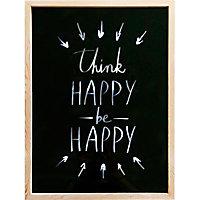 Image encadrée Think happy be happy 30 x 40 cm