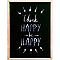 Image encadrée Think happy be happy 30 x 40 cm