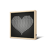 Cadre lumineux Love 40 x 40 cm