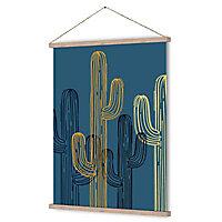 Kakémono/ toile imprimée Cactus 68 x 93 cm