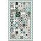 Tapis vinyle carreaux de ciment beige et bleu 49,5 x 83 cm