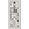 Tapis vinyle carreaux de ciment beige et bleu 49,5 x 116 cm