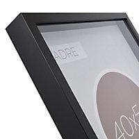 Cadre vitrine vide noir 40 x 50 cm