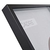 Cadre vitrine vide noir 60 x 80 cm