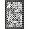 Tapis vinyle petits carreaux de ciment noir et blanc 98 x 148,5 cm