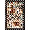 Tapis vinyle carreaux de ciment orange 98 x 148,5 cm