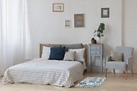 Tapis vinyle carreaux de ciment beige et bleu 98 x 148,5 cm