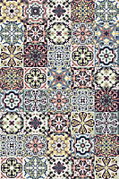 Tapis vinyle carreaux de ciment multicolore 98 x 148,5 cm