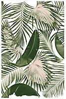 Tapis vinyle Jungle vert 98 x 148,5 cm