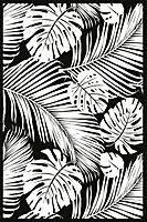 Tapis vinyle Jungle noir et blanc 98 x 148,5 cm