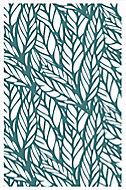 Tapis vinyle Jungle bleu 98 x 148,5 cm