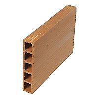 Brique de cloison terre cuite 7 x 20 x 38,5 cm