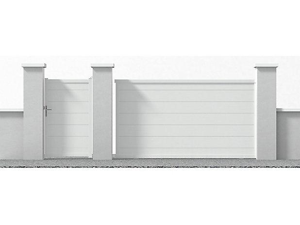 Portillon Jardimat Aluminium Lyon Blanc 9016 100 X H 170 Cm Castorama