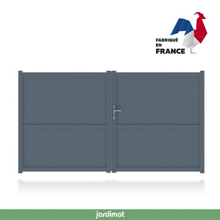 Portail Jardimat Aluminium Perth Gris Anthracite 300 X H 170 Cm Castorama