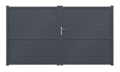 Portail Alu Perth Standard 3m H 170 Cm Castorama