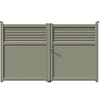 Portail aluminium Annoire gris 7030 - 350 x h.179 cm