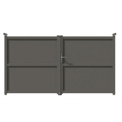 Portail aluminium tours gris 7039 350 x h.160 cm