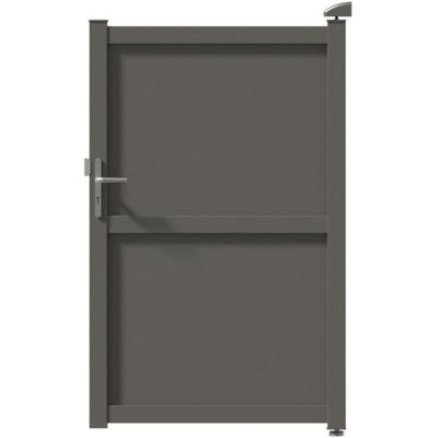 portillon aluminium tours gris 7039 100 x cm castorama. Black Bedroom Furniture Sets. Home Design Ideas