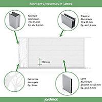 Portail Jardimat coulissant aluminium Fréjus blanc 9016 - 350 x h.170 cm