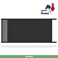 Portail Jardimat coulissant motorisé aluminium Olivier noir 2100 - 400 x h.169 cm
