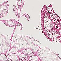 Papier peint vinyle sur papier Fleurs sweety violet mat