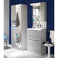 Lave-mains angle céramique blanc 38 cm
