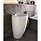 Lavabo céramique blanc Totem 55 cm