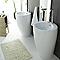 Lavabo Totem céramique blanc 55 cm