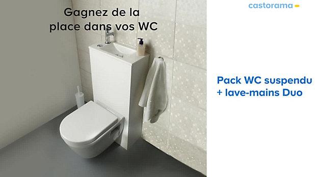 Pack Wc Suspendu Et Lave Mains Duo Castorama